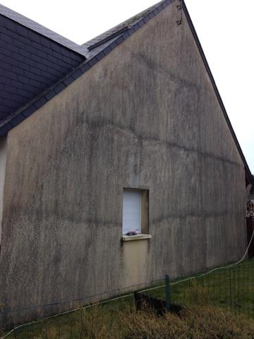 facade avant nettoyage